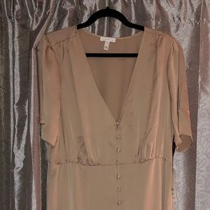 Silk Plus size ankle length dress from Nordstrom